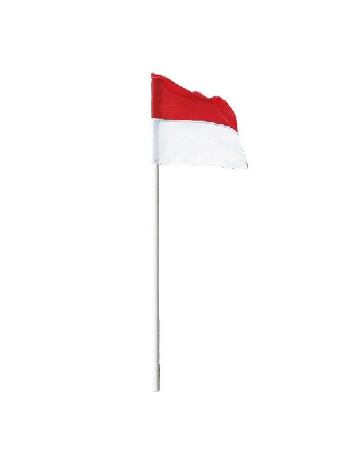 Grenzstange weiß mit Fahne