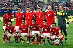 Mannschaftsfoto für Österreich