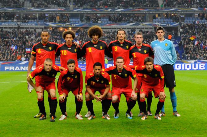Mannschaftsfoto für Belgien
