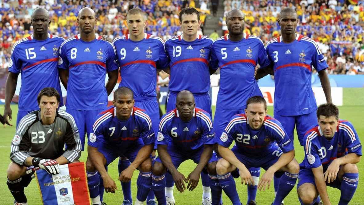 Mannschaftsfoto für Frankreich