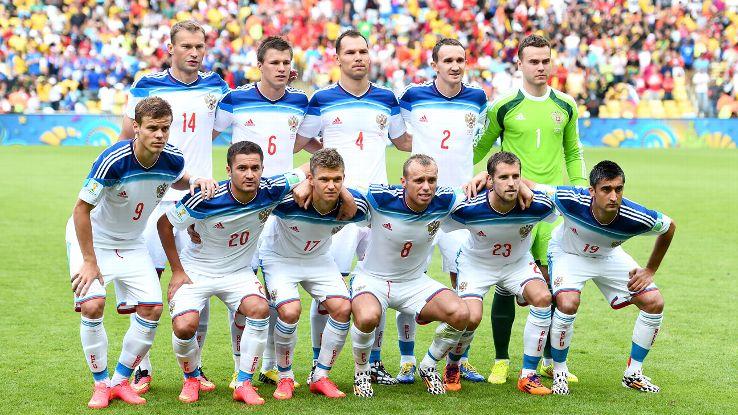 Mannschaftsfoto für Russland
