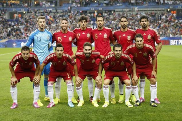 Mannschaftsfoto für Spanien