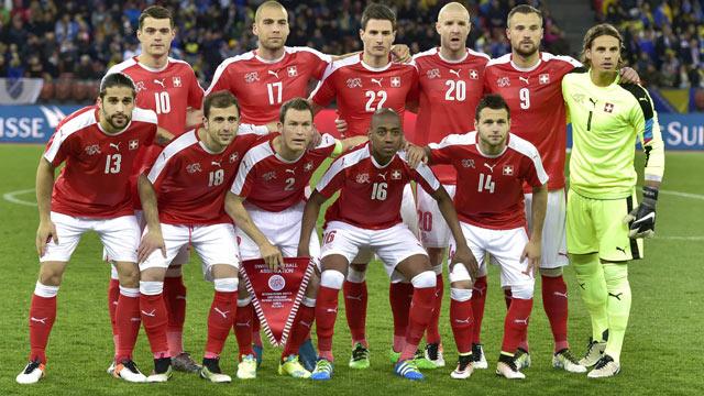 Mannschaftsfoto für Schweiz